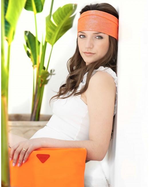 Turbante Naranja Irisado