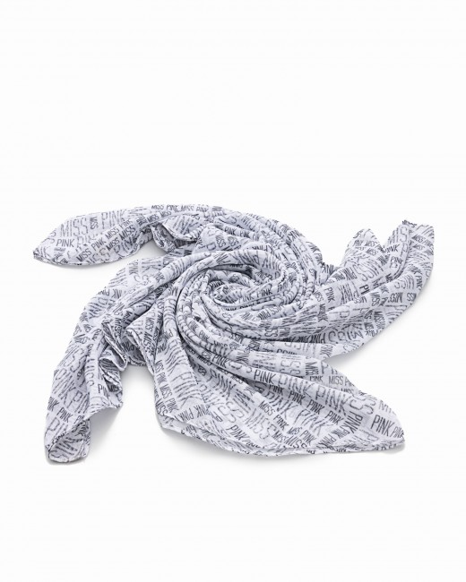 Pañuelo Blanco Estampado