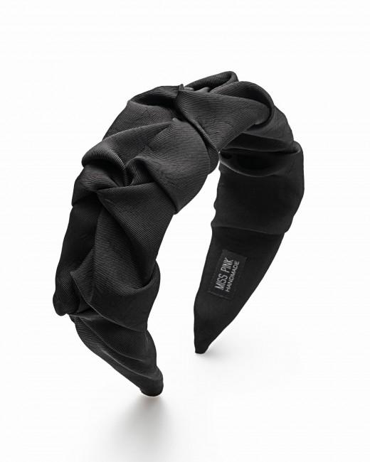Diadema Fruncida Negra